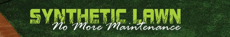 Synthetic lawn - no more maintenance!